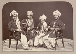 Four sons of Nowroz Khan of Lalpura.